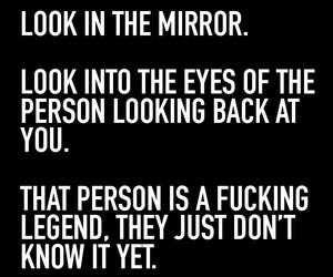 legend, Lyrics, and mirror image
