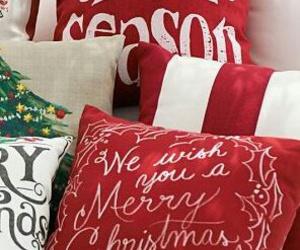 pillow, christmas, and merry christmas image