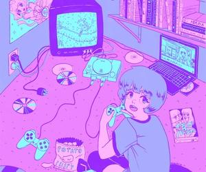 anime, retro, and pixiv art image