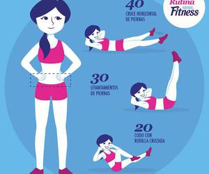 fitness, workout, and abdomen image