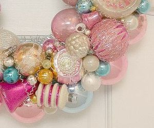 christmas, ornaments, and pastel image