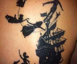 peter pan, photography, and tattoo image