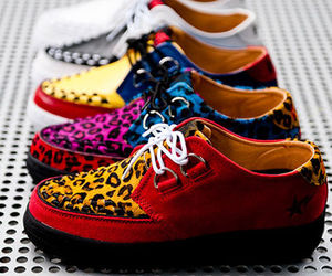 shoes, creepers, and leopard image