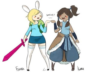 adventure time, korra, and fionna image
