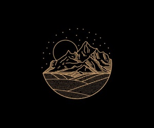 black, art, and mountains image