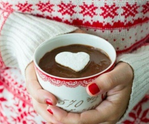christmas, heart, and sweater image