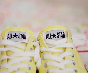 all star, converse, and yellow image