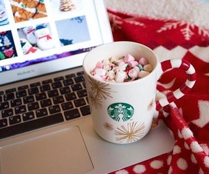 winter, christmas, and starbucks image