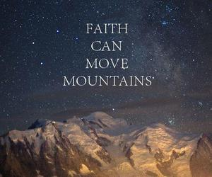 faith, mountains, and quote image
