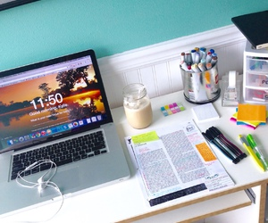 colors, notebooks, and school image
