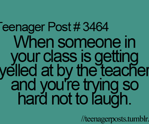 teenager post, class, and laugh image