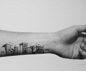 tattoo, 500 Days of Summer, and black and white image