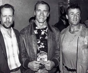 bruce willis, actors, and Arnold Schwarzenegger image
