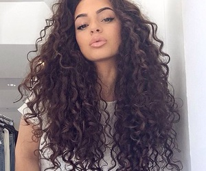 curly hair, pretty, and girl image