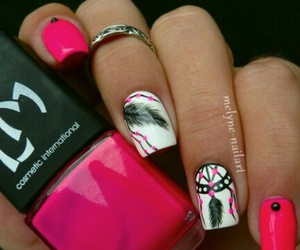 fashion, nail art, and pink image