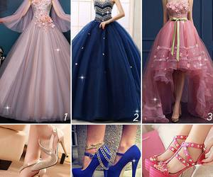 ball gown, fashion, and women dress image