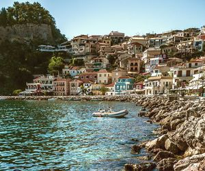 italia, italy, and this is parga in greece image