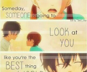 anime, quote, and tonari no kaibutsu-kun image