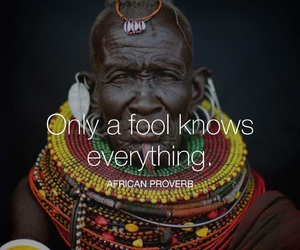 fool, quote, and african proverb image