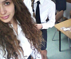 boarding school, polish girls, and curly hair image