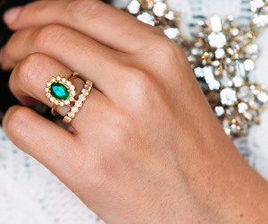 jewelry, ring, and gold image