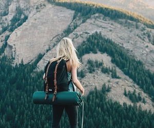 girl, mountain, and travel image