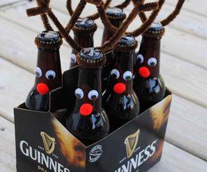 beer, christmas, and reindeer image