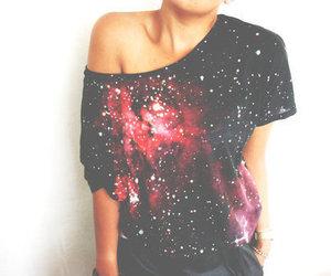 fashion, galaxy, and shirt image