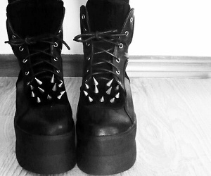 spikes, black, and boots image