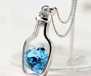 jewelry, necklace, and blue heart image