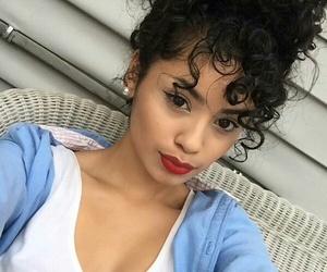 black hair, bun, and natural hair image
