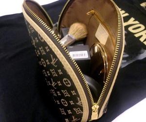 Louis Vuitton, makeup, and bag image