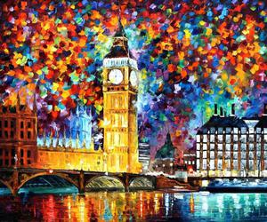 london, art, and Big Ben image