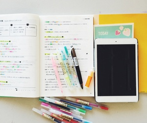 study, planner, and school image