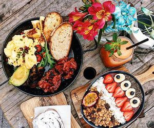 delicious, flowers, and food image