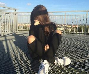 girl, black, and tumblr image