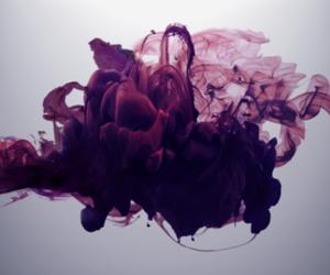 art, purple, and smoke image