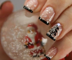 christmas nail art image