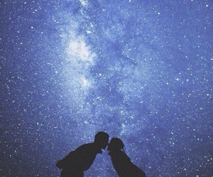 love, galaxy, and kiss image