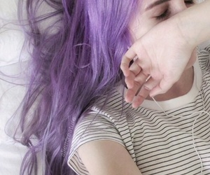 hair, purple, and icon image