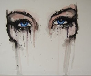 art, cry, and eyes image