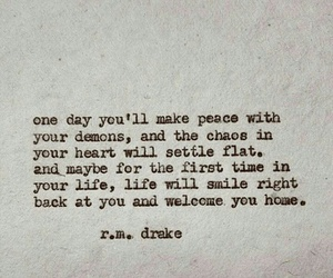 quotes, demon, and life image