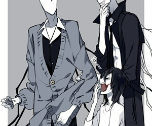 jeff the killer, creepypasta, and slenderman image