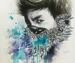 exo, jhope, and fanart image