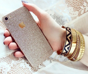 iphone, bracelet, and fashion image