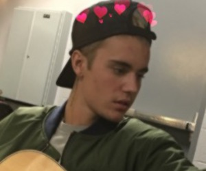 icon, justin bieber, and hearts image