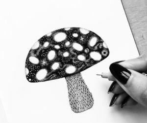 draw and mushroom image