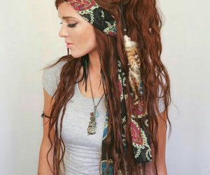 hair, boho, and hippie image