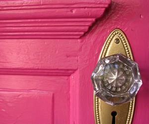 pink and door image