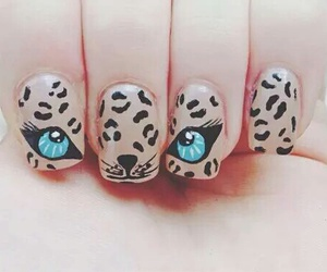 nails, eyes, and nail art image